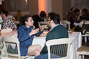 GAIA FUGAZZA; GIOVANNI CARMINE, Lisson Gallery dinner, Banqueting House. London. 15 October 2013