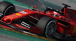 Ferrari's Charles LeClerc during day four of pre-season testing at the Circuit de Barcelona-Catalunya.