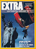 Continental Airpline Extra Cover Statue of Liberty