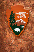 National Park Service sign, Zion National Park, Utah USA