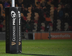 Photographer Mike Jones/Replay Images<br /> <br /> Guinness PRO14 Round Round 18 - Dragons v Cheetahs - Friday 23rd March 2018 - Rodney Parade - Newport<br /> <br /> World Copyright © Replay Images . All rights reserved. info@replayimages.co.uk - http://replayimages.co.uk