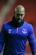 Everton goalkeeper Tim Howard   during the Capital One Cup match between Middlesbrough and Everton at the Riverside Stadium, Middlesbrough, England on 1 December 2015. Photo by Simon Davies.