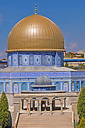 Dome of the rock, Jerusalem replica at Mini Israel, Mini Israel is a park of scaled down models of sites and building in Israel, All models are exact copies of  the sites, buildings and landscapes from around the country built at a scale of 1:25