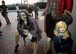 29 Jan 2012. New Orleans, Louisiana USA. <br /> Creepy Anne Rice mannequins awaiting loading into a truck  at the end of the Wizard World New Orleans Comic Con at the Ernest N Morial Convention Center. <br /> Photo; Charlie Varley/varleypix.com