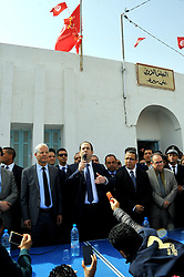 April 27, 2017 - Tataouine, Tunisia - Working visit of Tunisian Prime Minister Youssef Chahed accompanied by a ministerial delegation and several journalists in southern Tunisia to tataouine governorate  (Credit Image: © Chokri Mahjoub via ZUMA Wire)