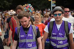 Bar concierges at Latitude Festival 2016, Henham Park, Suffolk, UK