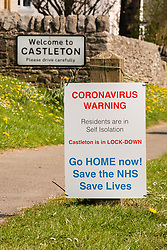 Castleton in the Peak District National Park deserted over the Easter weekend as people heed the government advice to Stay home and only make necessary Journeys during the UK's Covid-19 Emergency Measures<br /> <br /> 11 April 2020<br /> <br /> www.pauldaviddrabble.co.uk<br /> All Images Copyright Paul David Drabble - <br /> All rights Reserved - <br /> Moral Rights Asserted -