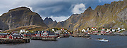 Coastal fishing village of Å, Lofoten Islands, Norway.