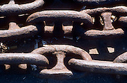 Close-up detail of heavy rusted chains by the wharf, San Francisco, California...Media Usage:.Subject photograph(s) are copyrighted Edward McCain. All rights are reserved except those specifically granted by McCain Photography in writing...McCain Photography.211 S 4th Avenue.Tucson, AZ 85701-2103.(520) 623-1998.mobile: (520) 990-0999.fax: (520) 623-1190.http://www.mccainphoto.com.edward@mccainphoto.com
