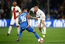 March 9, 2019 - Getafe, MADRID, SPAIN - Chimi Avila of Huesca and Arambarri of Getafe during the spanish league, La Liga, football match played between Getafe CF and SD Huesca at Butarque Stadium in Getafe, Madrid, Spain, on March 9, 2019. (Credit Image: © AFP7 via ZUMA Wire)
