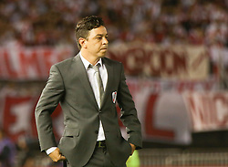 10.12.2014, River Plate Stadium, Buenos Aires, ARG, Südamerika Cup 2014, River Plate vs Atletico Nacional de Medellin, im Bild River Plate football team coach Marcelo Gallardo // during the 2nd final match of Southamerican Cup between River Plate vs Atletico Nacional and Medellin at the River Plate Stadium in Buenos Aires, Argentina on 2014/12/10. EXPA Pictures © 2014, PhotoCredit: EXPA/ Eibner-Pressefoto/ Cezaro<br /> <br /> *****ATTENTION - OUT of GER*****