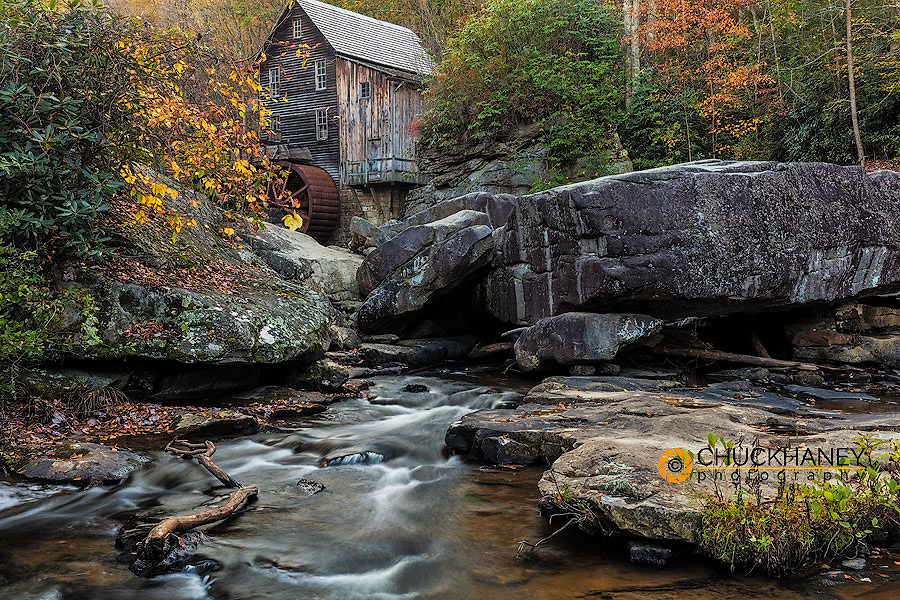 Grist Mill on Glade Creek in Babcock State Park, West Virginia, USA