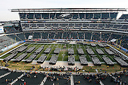 6 Dec 2008: Navy Midshipman Line up on the field before the Army / Navy game December 6th, 2008. At Lincoln Financial Field in Philadelphia, Pennsylvania.