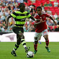 Celtic FC vs Al Ahly Wembley Cup 24/07/09<br /> Photo Nicky Hayes/Fotosports International<br /> Landry N'Guemo of Celtic and Hossam Ashour of Al Ahly.