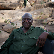 April 28, 2012 - Tabania, Nuba Mountains, South Kordofan, Sudan: Commander in chief of the Sudan People?s Liberation Movement (SPLA-N) rebel group, Dr. Abdalaziz Alhilu, addresses a group of journalist during an interview in a hidden location in the Nuba Mountains of South Kordofan...Abdalaziz, the military and political leader of the Nuba people, is considered the enemy number of Karthoum's government and one of the most wanted men in Sudan. ..SPLA-North, a historical ally of SPLA, South Sudan's former rebel forces, has since last June being fighting the Sudanese Army Forces (SAF) over the right to autonomy and of the end of persecution of Nuba people by the regime of President Bashir. (Paulo Nunes dos Santos/Polaris)