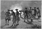 In 1822 the French appointed commission to finding the speed of sound in air. Two hills near Paris chosen for the experiment at Villejuif and Montlhery. On each hill a gun was discharged. Observers on the other hill, by noting the time of flash and time at which they heard report, calculated the speed to be 1,118.152 feet (340.8m) per second. Gay-Lussac, Humboldt and Bouvard at Montlhery; Arago, Mathieu and Prony were at Villejuif. From Robert Brown 'Science for All', London, c.1880