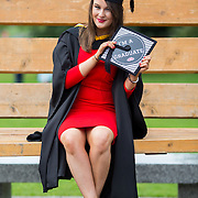 """23.08.2016        <br /> Over 300 students graduated from the Faculty of Arts Humanities and Social Sciences at the University of Limerick today. <br /> <br /> Attending the conferring ceremony was Bachelor of Law graduate, Katie O'Riordan, Killarney Co. Kerry. Picture: Alan Place.<br /> <br /> <br /> <br /> <br /> UL Graduates Employability remains consistently high as they are 14% more likely to be employed after Graduation than any other Irish University Graduate<br /> Each year, the Careers Service collects information about the 'First Destinations' of UL graduates. During the April/May period following graduation, we survey those who have completed full-time undergraduate and postgraduate courses for details on their current status. This current survey was conducted nine months after graduation and focuses on the employment and further study patterns of the graduates of 2015. A total of 2,933 graduates were surveyed and a response rate of 87% was achieved. <br /> As the University of Limerick commences four days of conferring ceremonies which will see 2568 students graduate, including 50 PhD graduates, UL President, Professor Don Barry highlighted the continued demand for UL graduates by employers; """"Traditionally UL's Graduate Employment figures trend well above the national average. Despite the challenging environment, UL's graduate employment rate for 2015 primary degree-holders is now 14% higher than the HEA's most recently-available national average figure which is 58% for 2014"""". The survey of UL's 2015 graduates showed that 92% are either employed or pursuing further study."""" Picture: Alan Place"""