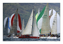 Bell Lawrie Scottish Series 2008. Fine North Easterly winds brought perfect racing conditions in this years event..Class 2 winner IRL 789 Rosie, among the IRC Fleet Downwind.