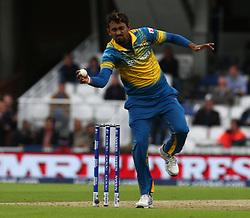 June 8, 2017 - London, United Kingdom - Suranga Lakmal of Sri Lanka. during the ICC Champions Trophy match Group B between India and Sri Lanka at The Oval in London on June 08, 2017  (Credit Image: © Kieran Galvin/NurPhoto via ZUMA Press)