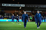 West Ham United manager Manuel Pellegrini during the The FA Cup fourth round match between AFC Wimbledon and West Ham United at the Cherry Red Records Stadium, Kingston, England on 26 January 2019.