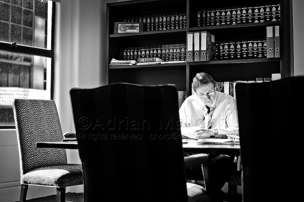 John Haigh QC, photographed for the feature, 'Auckland's Best Lawyers', in Metro magazine. A selection of portraits from editorial, commercial and personal assignments