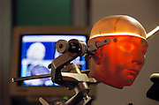 A robotic apparatus that allows for precision surgical drilling, created by Jojumarie Intelligent Instruments Company GMBH, Berlin, Germany.