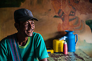 A man enjoys the afternoon light in a small teahouse in Nyaungshwe, Myanamr.