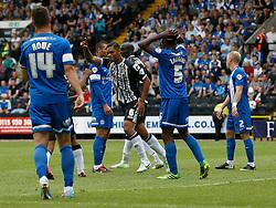 Notts County's Dean Leacock celebrates  scoring the first goal  - Photo mandatory by-line: Matt Bunn/JMP - Tel: Mobile: 07966 386802 10/08/2013 - SPORT - FOOTBALL -  Meadow Lane - Nottinghamshire -  Notts County v Peterborough United - Sky Bet League 1