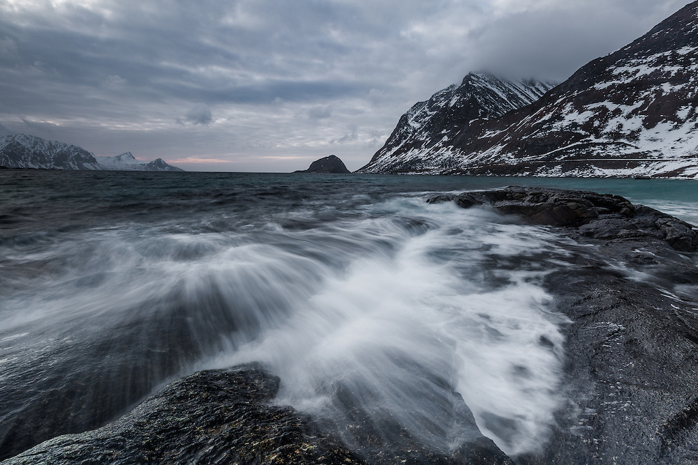 Lofoten's beaches are some of the most hauntingly beautiful.  This was taken on a cold, stormy day at Haukland Beach.