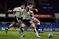 Photo: Ashley Pickering/Sportsbeat Images.<br /> Ipswich Town v Barnsley. Coca Cola Championship. 01/12/2007.<br /> Dominic Werling of Barnsley (no. 55) holds off Pablo Counago of Ipswich