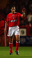 Photo. Daniel Hambury.<br />The Barclays Premiership.<br />Charlton Athletic V Blackburn Rovers. 27/09/2004.<br />Charlton Athletic's goal scorer Talal El Karkouri
