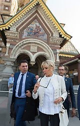 Brigitte Macron visiting the the Church of the Savior on Spilled Blood and walking in Saint Petersburg in Russia on may 25, 2018. Photo by Jacques Witt/pool/ABACAPRESS.COM