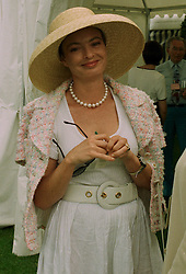 COUNTESS VON SCHONBURG she was Maya Flick, at a polo match in Cirencester on 6th July 1997.MAA 13
