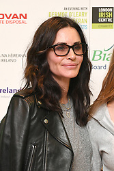Courteney Cox arrives for An Evening with Dermot OÕ Leary at the London Irish Centre in Camden Square, London.