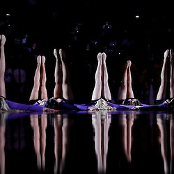 January 28, 2012; Baton Rouge, LA; LSU Tigers girls dancers perform prior to tip off of a game between the LSU Tigers and the Kentucky Wildcats at the Pete Maravich Assembly Center.  Mandatory Credit: Derick E. Hingle-US PRESSWIRE
