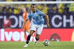 July 20, 2018 - Chicago, IL, U.S. - CHICAGO, IL - JULY 20: Manchester City forward Leroy Sane (19) dribbles the ball during an International Champions Cup match between Manchester City and Borussia Dortmund on July 20, 2018 at Soldier Field in Chicago, Illinois. (Photo by Robin Alam/Icon Sportswire) (Credit Image: © Robin Alam/Icon SMI via ZUMA Press)