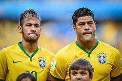Neymar Júnior e Fred na partida entre Brasil x Colombia, válida pelas quartas de final da Copa do Mundo 2014, no Estádio Castelão, em Fortaleza-CE. FOTO: Jefferson Bernardes/ Agência Preview