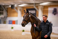 KITTEL Patrik (SWE), Delaunay OLD<br /> Göteborg - Gothenburg Horse Show 2019 <br /> Vet-Check Dressurpferde<br /> Longines FEI Jumping World Cup™ Final and FEI Dressage World Cup™ Final<br /> 04. April 2019<br /> © www.sportfotos-lafrentz.de/Stefan Lafrentz
