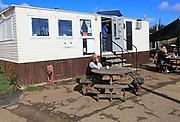Caravan cafe on the quay at Woodbridge, Suffolk, England, UK