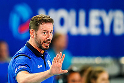 Alberto Giuliani, head coach of Slovenia during volleyball match between Cuba and Slovenia in Final of FIVB Volleyball Challenger Cup Men, on July 7, 2019 in Arena Stozice, Ljubljana, Slovenia. Photo by Matic Klansek Velej / Sportida