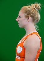 DEN BOSCH -  MARGOT VAN GEFFEN . . Nederlands Hockeyteam  voor nieuwe platform Hockey.nl.    FOTO KOEN SUYK