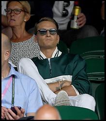 July 4, 2018 - London, London, United Kingdom - Wimbledon Tennis Championships-Day Three.  MIC Oliver Proudlock on  centre court at the Wimbledon Tennis Championships. (Credit Image: © Andrew Parsons/i-Images via ZUMA Press)