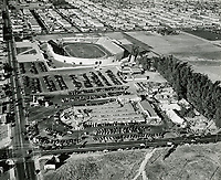 1938 Aerial photo of Farmers Market and Gilmore Stadium