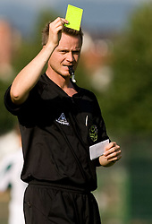 Referee during preseason friendly football match between NK Olimpija and SPINS selection, on June 30, 2009, in Menges, Slovenia. SPINS won 3:2.(Photo by Vid Ponikvar / Sportida)