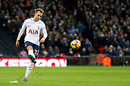 Tottenham Hotspur midfielder Eric Dier (15) takes a freekick during the Premier League match between Tottenham Hotspur and West Bromwich Albion at Wembley Stadium, London, England on 25 November 2017. Photo by Andy Walter.