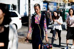 Street style, Natalie Joos arriving at Michael Kors Spring Summer 2017 show held at Spring Studios, 50 Varick Street, in New York, USA, on September 14, 2016. Photo by Marie-Paola Bertrand-Hillion/ABACAPRESS.COM