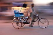 Bicycle rickshaw, Agra, Uttar Pradesh, India