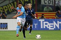 """Christian Maggio Napoli Joel Obi Inter<br /> Milano 01/10/2011 Stadio """"S.Siro""""<br /> Football / Calcio Serie A 2011/2012<br /> Inter vs Napoli<br /> Foto Paolo Nucci Insidefoto"""
