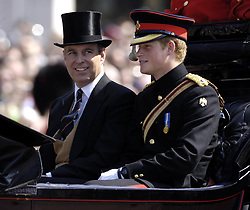 File photo dated 17/06/06 of the Duke of York (left) and the Duke of Sussex, as the Duke and Duchess of Sussex are preparing for the christening of their son Archie, which will take place on Saturday.