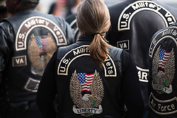 November 11, 2016 - Arlington, VA, United States of America - U.S. military veterans wearing biker leathers attend Veterans Day ceremonies at Arlington National Cemetery November 11, 2016 in Arlington, Virginia. (Credit Image: © Sgt. Cody W. Torkelson/Planet Pix via ZUMA Wire)